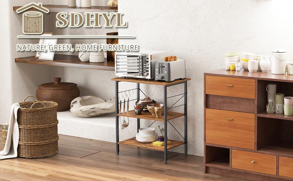 Kitchen Baker's Rack, Kitchen3 tier  Utility Storage Shelf Microwave Oven Stand Cart