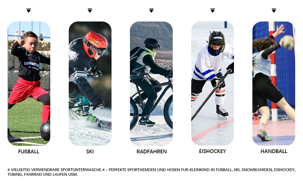Kinder Thermounterwäsche set funktionsunterwäsche Ski skiunterwäsche Sport sportunterwäsche jungen