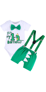 Dinosaur 1st Birthday Outfit for Baby Boys