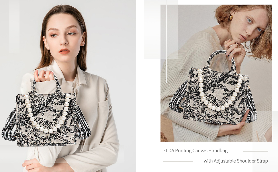 Embroidered Canvas Handbag