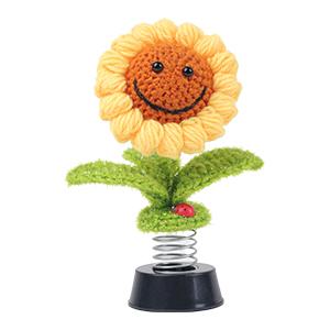 Sunflower bobbleheads dashboard decorations