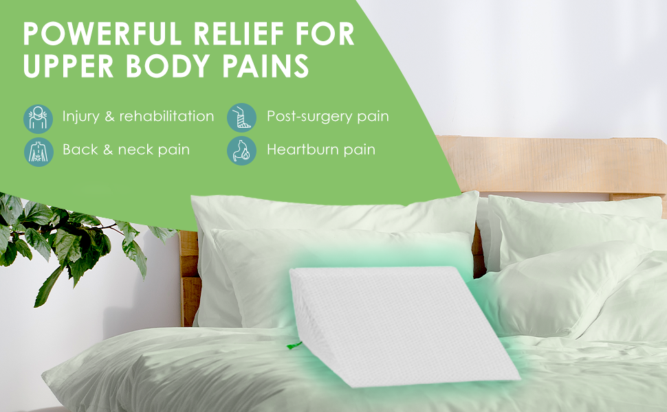 Powerful relief for aches & pains; Perfect for injury & rehabilitation, back & neck pain, heartburn