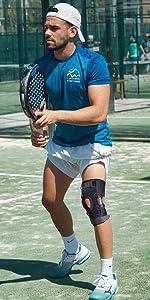 Gel patella knee brace with side stabilizers