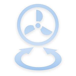 Ventilateur oscillation automatique