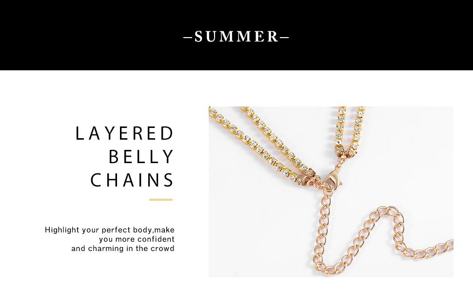 crystal waist chain