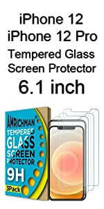 iphone 12 / iphone 12 Pro Tempered Glass Screen Protector 6.1 inch