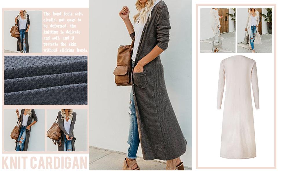Casual Long Side Split Cardigan Outwear