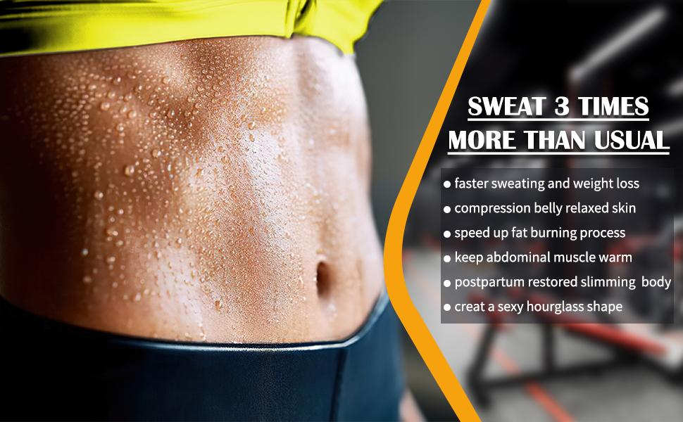 Neoprene Waist Trainer Corset Weight Loss Belly Band Sweat Control Slimming Belt