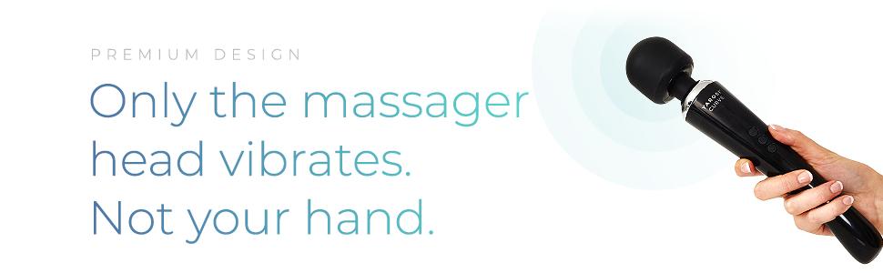 premium massager head vibrates not your hand