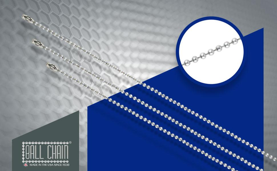 Number 3 Ball Chain 30-inch stainless