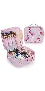 flamingo makeup bag