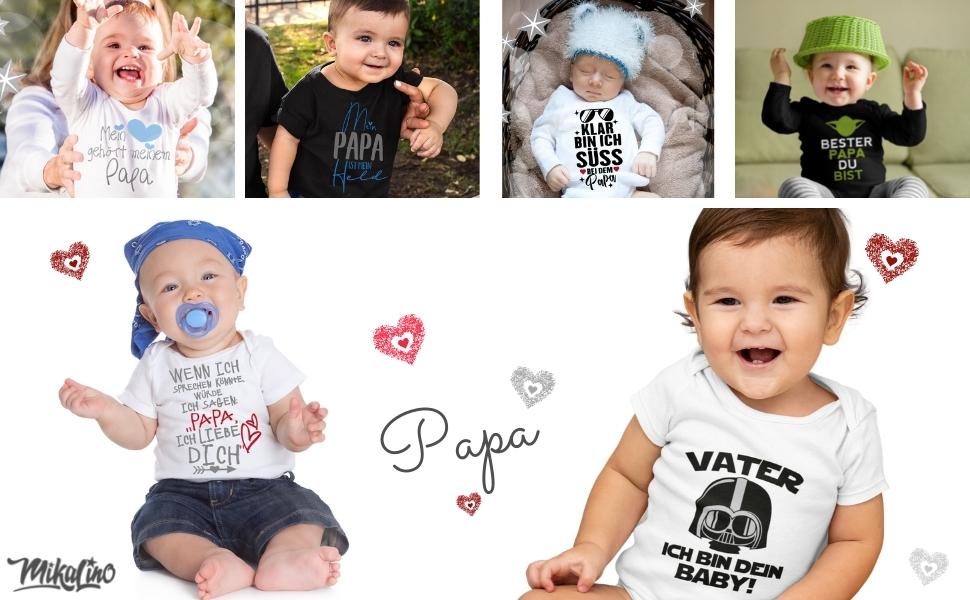 vatertag papa vater geschenk baby geschenkidee ideen idee babybodie mit spruch