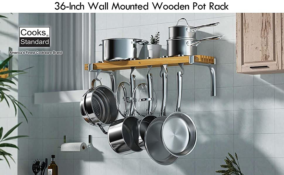 wall mounted wooden pot pack