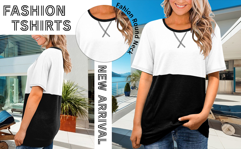 Angerella Women Round Neck Pocket Shirts