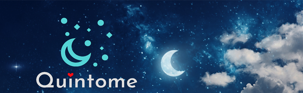 Night sky with quintome logo