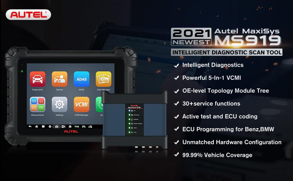 Autel MaxiSys MS919 2021 Intelligent Automotive Diagnostic Tool