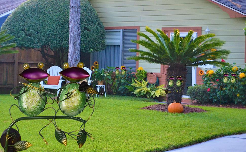 Garden Solar Landscape Lights Frog Decor