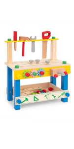 kids tool bench wooden workbench work bench for toddlers boys 2 3 years old