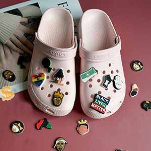 PVC letter number shoes charms
