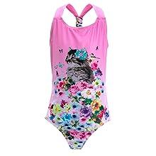 Cute cat print one-piece swimsuit