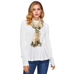 clear khaki ruffle scarf trending christmas gifts
