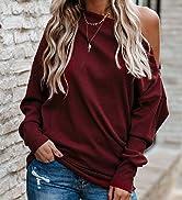 off shoulder sweatshirt for women