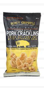 Honey Chipotle Pork Cracklins by Southern Recipe Small Batch