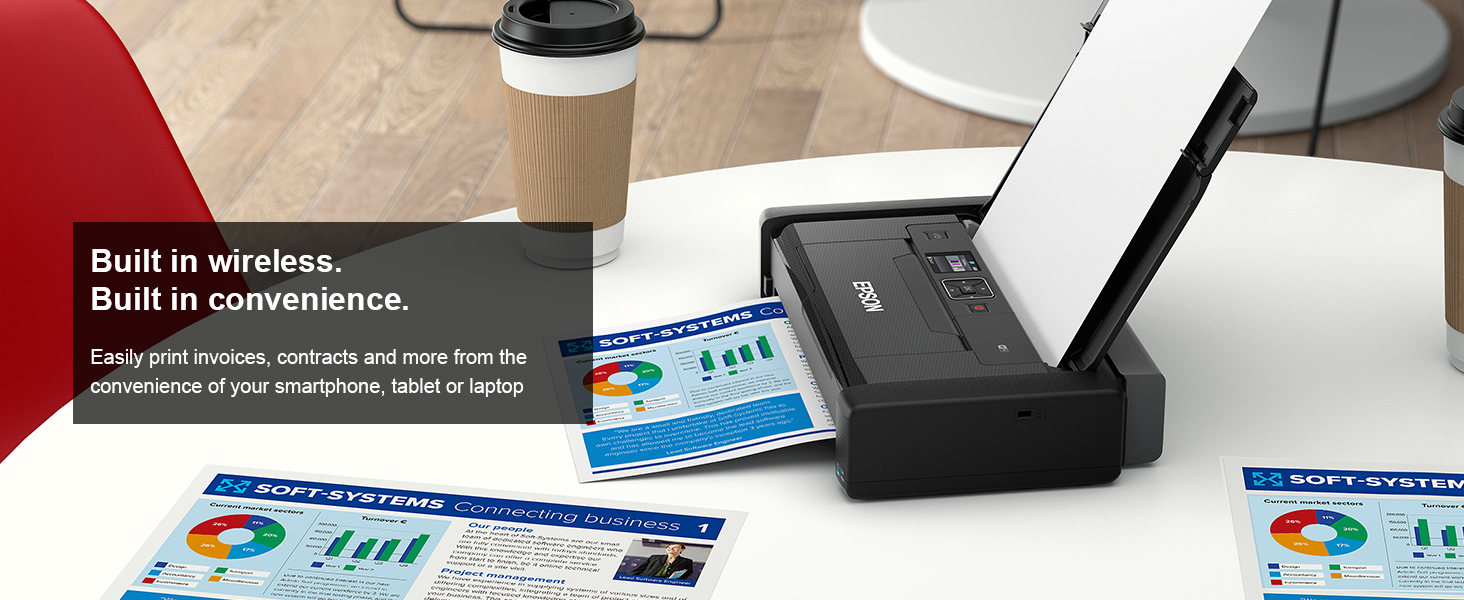 Easily print invoices, contracts and more from the  convenience of your smartphone, tablet or laptop