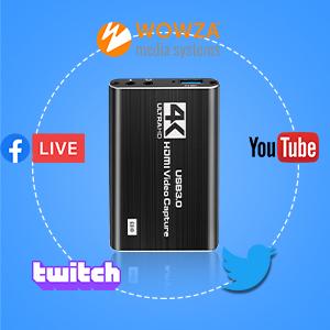 Video Capture Card, USB 3.0 HDMI to USB A Audio Capture Card