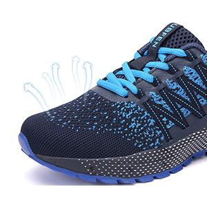 blue color sneakers