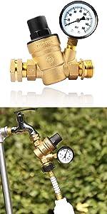 RV Water Pressure Regulator Valve