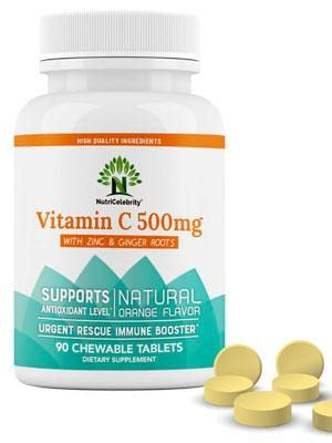 NutriCelebrity Vitamin C 500mg Natural Orange Flavor Chewables