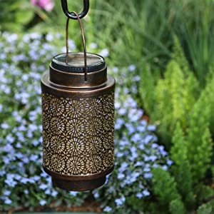 Solar Lantern Outdoor Light Hanging Lanterns Garden Decorative Lights for Yard Patio Tree Backyard