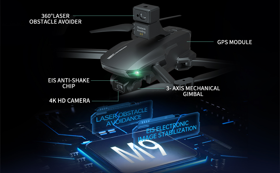 EIS Anti-Shake drone, 5G WIFI FPV, Long Flight Time,Brushless Motor, Auto Return Home(2 batteries)…
