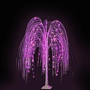 pink tree light