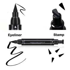 Double-headed Stamp Liquid Eyeliner Pen, Winged Eyeliner