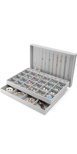 3 Set Jewelry Trays Stackable Organizer