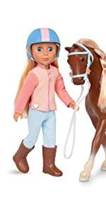 Milla Milkyway 14-inch glitter girls doll horse accessories clothes equestrian toy plush pet