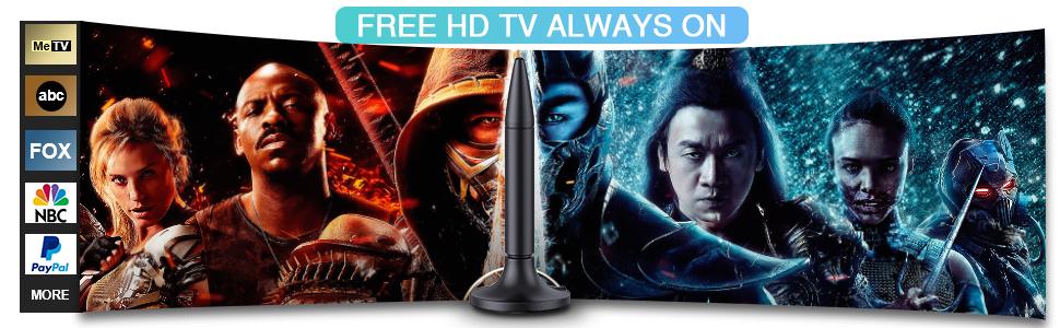 Free HD TV Always on