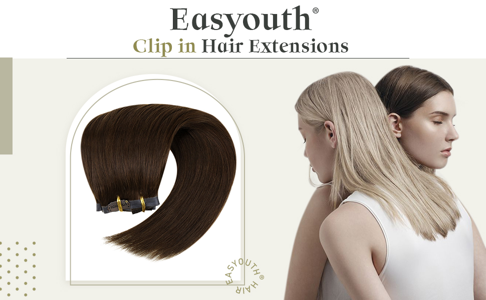 Easyouth PU Clip in Hair Extensions