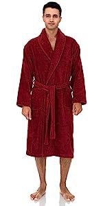 TowelSelections Mens Robe, Organic Cotton Terry Shawl Bathrobe