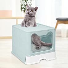 top entry cat litter box large