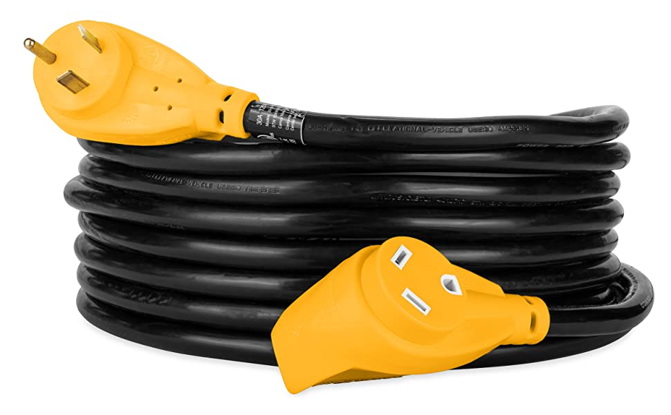 RV extension cord; EV extension cord; electric vehicle extension cord