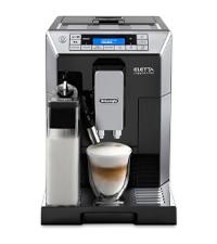 ハイエンドモデル デロンギ コンパクト全自動コーヒーメーカー エレッタ 自動カフェラテ・カプチーノ機能 ラテメニュー7種搭載 タッチパネル ブラック