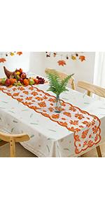 Thanksgiving Fall Table Runner