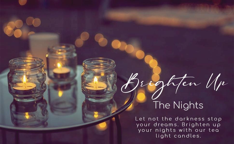 Tea Light Candles candlelight dinner candle luxury lighting centerpiece night burners luminaries
