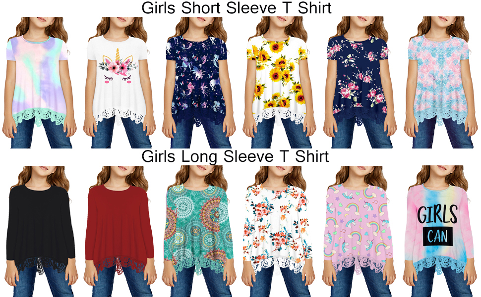 t shirts for girls