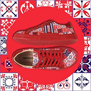 red sneaker shoes walking