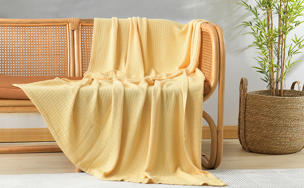 yellow blanket for sofa chair couch