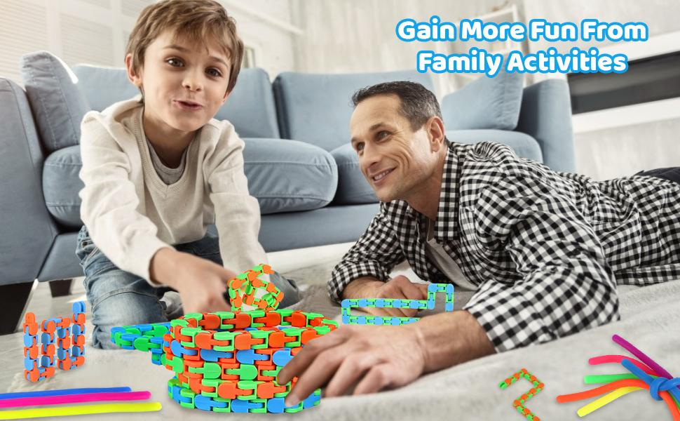 stretchy string fidget sensory toys Wacky Tracks Snap and Click Fidget Toys Stress Anxiety